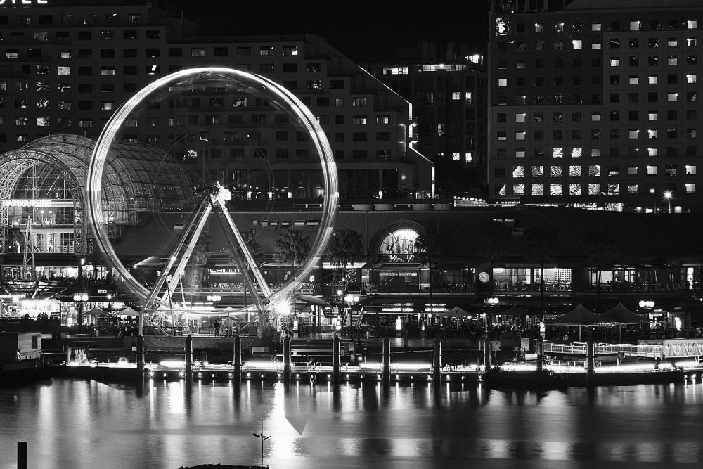 The big circle at Darling Harbour