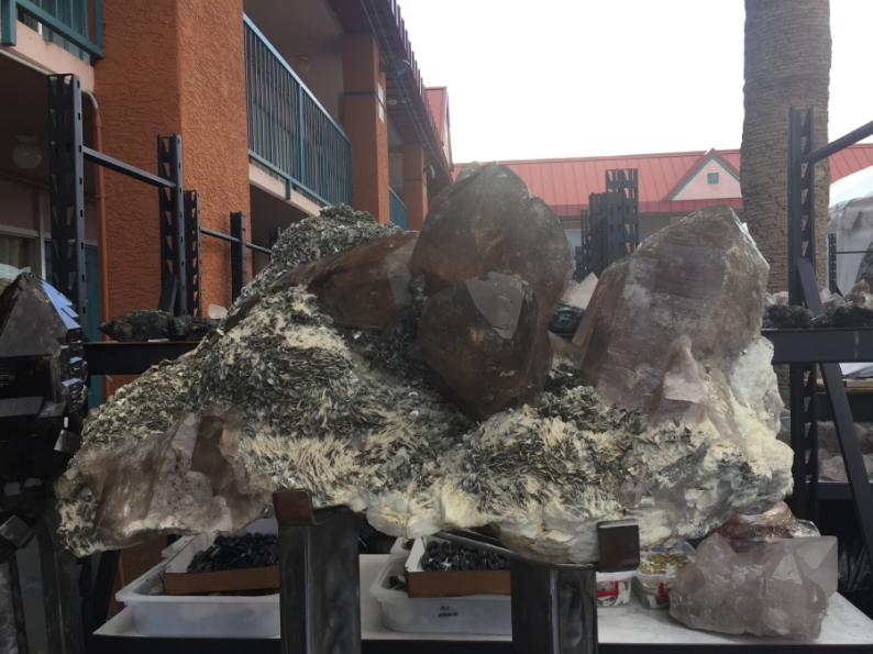Gigantic smokey quartz